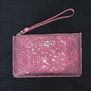 Coach glitter LIMITED EDITION wristlet wallet